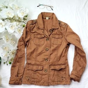 Cute brown aeropostale military style jacket